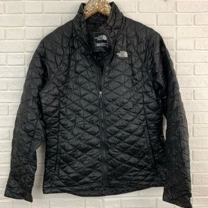 North Face thermoball down puffer jacket zip black